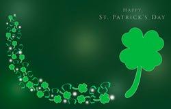 St. Patrick Day mit Shamrocks für Hintergrund stock abbildung