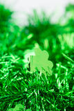 St patrick day ornament with copyspace Royalty Free Stock Photos