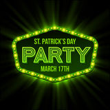 St. Patrick Day poster. Vector illustration Stock Photos