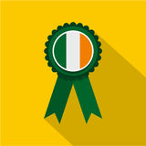 St Patrick day rosette icon, flat style Royalty Free Stock Photography