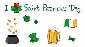 St. Patrick day set. Poster for the celebrate 17 march - Saint Patricks day royalty free illustration