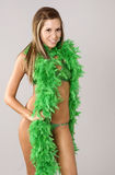 St Patrick day sexy swimsuit model Royalty Free Stock Image