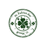 St  Patrick day stamp Royalty Free Stock Photography