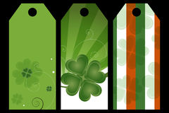 St. Patrick day labels Stock Image