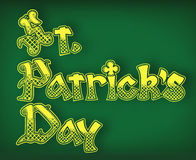 St Patrick Day text Stock Photos