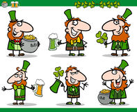 St patrick day themes set cartoon illustration Royalty Free Stock Photo