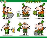 St patrick day themes set cartoon illustration Royalty Free Stock Photo