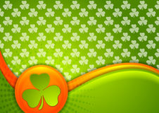 St. Patrick Day waves background with Irish flag colors Royalty Free Stock Photography