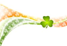 St. Patrick Day wavy background with Irish colors Stock Image