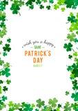 St Patrick de achtergrond van de Dag Illustratie Royalty-vrije Stock Foto