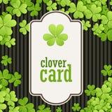 St Patrick de achtergrond van de Dag Vectorillustratie voor gelukkig de lenteontwerp met klaver Groen klavergrens en vierkant Royalty-vrije Stock Afbeelding
