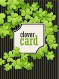 St Patrick de achtergrond van de Dag Vectorillustratie voor gelukkig de lenteontwerp met klaver Groen klavergrens en vierkant Stock Fotografie