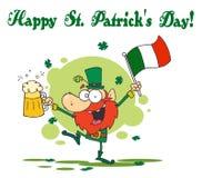 St Patrick de Groet van de Dag van een Dronken Leprechuan Royalty-vrije Stock Fotografie