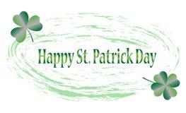 St Patrick de kaart van de Daggroet met gelukkige brieven, illustratie - vector stock afbeelding
