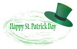 St Patrick de kaart van de Daggroet met gelukkige brieven, illustratie - vector royalty-vrije illustratie
