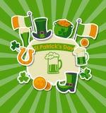 St Patrick de Kaart van de Groet van de Dag Stock Fotografie