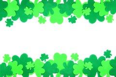 St Patrick de klavergrens van de Dag Royalty-vrije Stock Foto's
