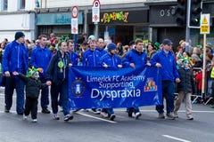 St. Patrick de parade van de Dag in Limerick Royalty-vrije Stock Foto's