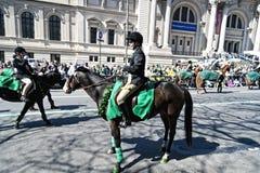 St. Patrick de Parade van de Dag in NYC Stock Afbeeldingen