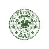 St. Patrick de rubberzegel van de Dag Stock Foto's
