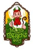 St Patrick dentro do quadro de madeira Imagens de Stock