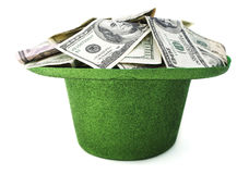 St Patrick & x27; dinheiro do dia de s fotografia de stock