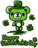 St Patrick dnia Śliczny niedźwiedź Zdjęcia Royalty Free