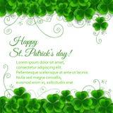 St. Patrick dnia karta Fotografia Royalty Free