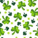 St Patrick dnia koniczyny zieleni koniczynowy wzór Zdjęcie Royalty Free