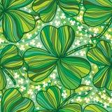 St Patrick dnia liścia kreskowego rysunku bezszwowy wzór Zdjęcie Royalty Free