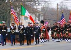 St Patrick dnia parady gwardia honorowa Zdjęcia Royalty Free