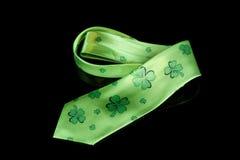 St. Patrick dnia shamrock krawat Fotografia Royalty Free
