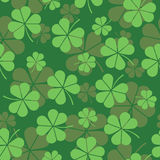 St. Patrick dnia wzór z koniczyną w wektorze Zdjęcie Stock