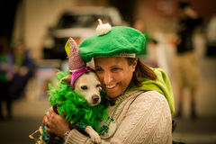 St Patrick Dog et Madame Photo libre de droits