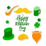 St Patrick dzień ustawiający z ilustracja wektor