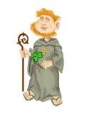 St Patrick en el fondo blanco libre illustration