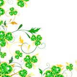 St.Patrick floral frame Royalty Free Stock Image