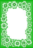 St. Patrick. Frame of the green four-leaf clovers suitable for St. Patricks feast Stock Image