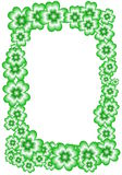 St. Patrick. Frame of the green four-leaf clovers suitable for St. Patricks feast Stock Photo