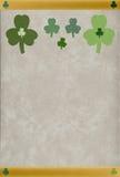 St. Patrick geweven klavers Stock Afbeelding