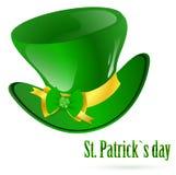 St.Patrick groene hoed Royalty-vrije Stock Foto's
