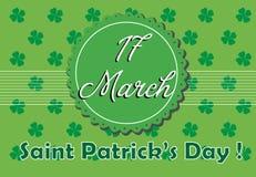 St Patrick hälsning royaltyfri illustrationer
