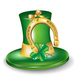 St patrick hat with horseshoe Royalty Free Stock Image
