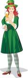 St. Patrick het festival van het ladylbier Stock Afbeelding