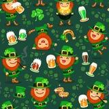 St.Patrick het patroon van de Dag Stock Foto's