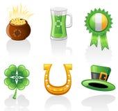 St. Patrick het pictogramreeks van de Dag Royalty-vrije Illustratie