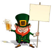 St. Patrick Holding a Placard Stock Image