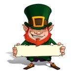 St. Patrick Holding una etiqueta ilustración del vector