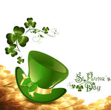 St.Patrick holiday background Stock Photos