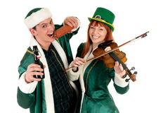 St Patrick holiday couple Royalty Free Stock Photography